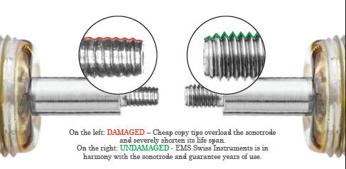 Damaged vs Undamaged EMS Instrument